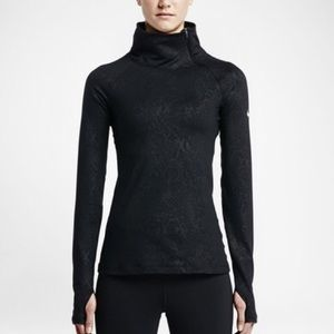 Nike Tops - NIKE Pro Embossed Hyperwarm Vixen Zip Long Sleeve